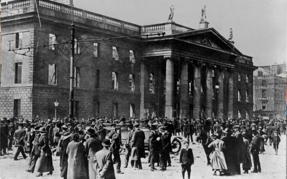 Four Courts Destroyed during the 1916 Rising.