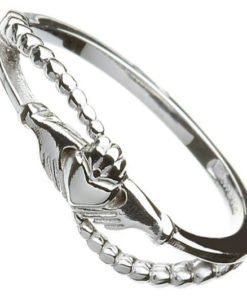 Ladies Contemporary Claddagh Ring