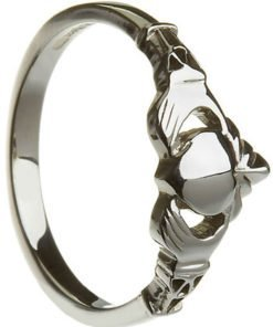 Ladies Sterling Silver Claddagh with Trinity Knot Cuffs