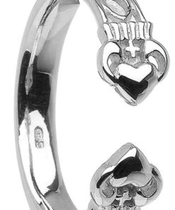 Ladies Irish Torc Claddagh Ring