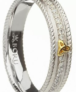 About Our Silver and 10k Gold Trinity Stone Set Ring with 24 CZs