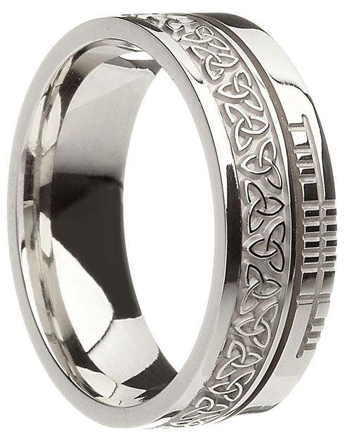 Gold Trinity Knot Ogham Wedding Ring