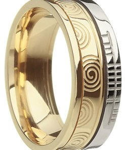 Celtic Spiral Wedding Rings