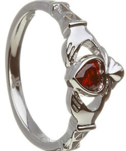 Garnet Birthstone Claddagh - January