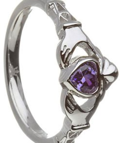 Birthstone Claddagh -February