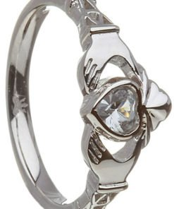 Birthstone Claddagh - March