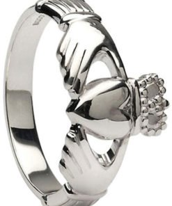 Large Sterling Silver Ladies Claddagh Ring