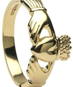 Yellow Gold Ladies Claddagh Ring