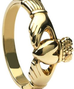 Yellow Gold Maids Claddagh Ring