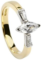 14k Gold Trinity Knot Celtic Engagement Ring