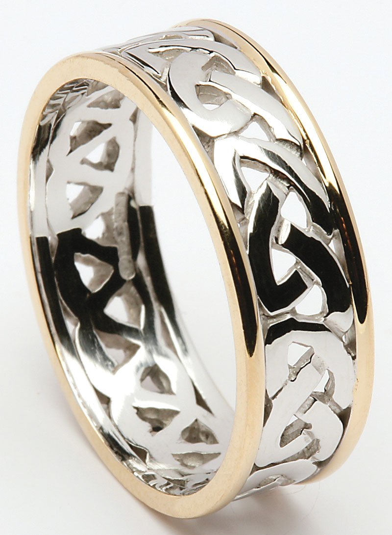 Rims Ring Gold Wedding With Knot Celtic XiZPwlOkuT