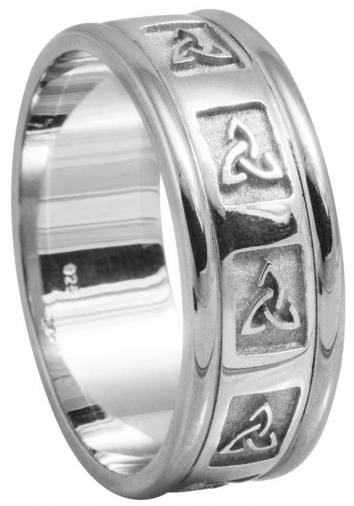 White Gold Trinity Knot Wedding Ring