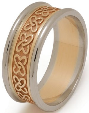 Celtic Love Knot Wedding Ring with Rims