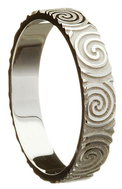 Newgrange Celtic Spiral Wedding Ring