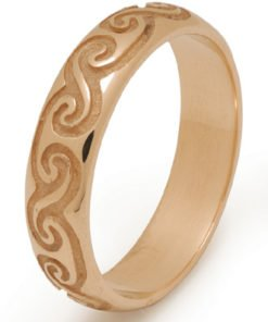 Newgrange Celtic Spiral Wedding Ring