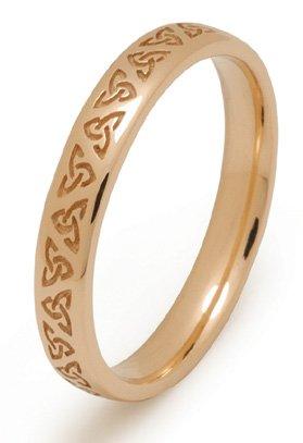 gold trinity knot wedding ring