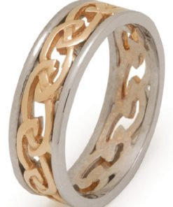 Ladies Celtic Knot Wedding Ring with Rims