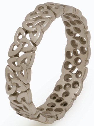 Ladies Sterling Silver Trinity Knot Band