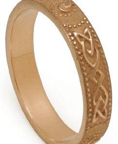 Gold Celtic Shield Wedding Ring