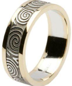 Ladies 14k Gold Newgrange Spiral Wedding Band