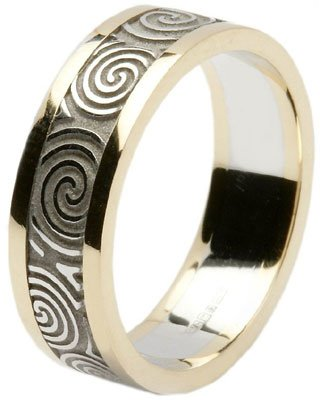 Ladies 14k Gold Newgrange Spiral Wedding Band