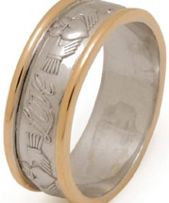 Love, Friendship, Loyalty Gold Claddagh Wedding Ring