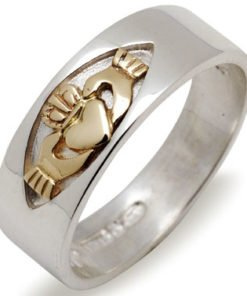 Silver and Gold Claddagh Ring