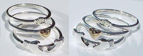 Three Piece Claddagh Ring