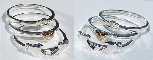 Three Piece Claddagh Ring