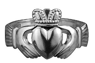 Sterling Silver Gents Traditional Claddagh Ring