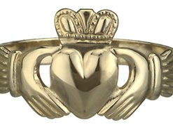 14k Yellow Gold Maids Standard Claddagh