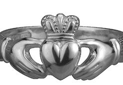 Sterling Silver Puffed Heart Maids Heavy Claddagh