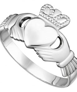 White Gold Maids Traditional Claddagh Ring