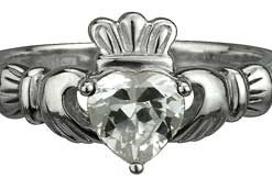 Claddagh with stone set center