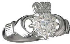 Silver Claddagh Cluster Ring