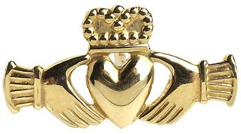 Claddagh Tie Tac in gold or silver