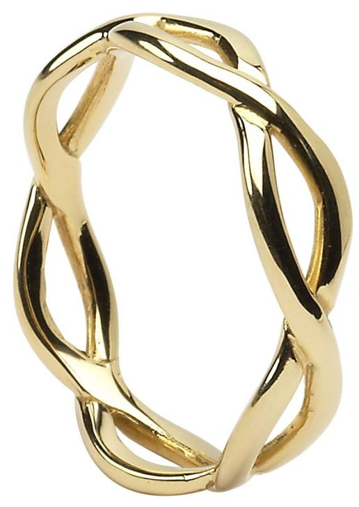 Gold Infinity Knot Celtic Wedding Band