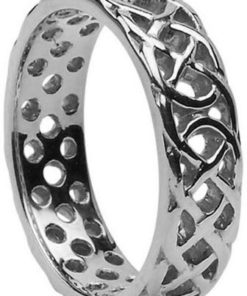 Sterling Silver Pierced Celtic Knot Band