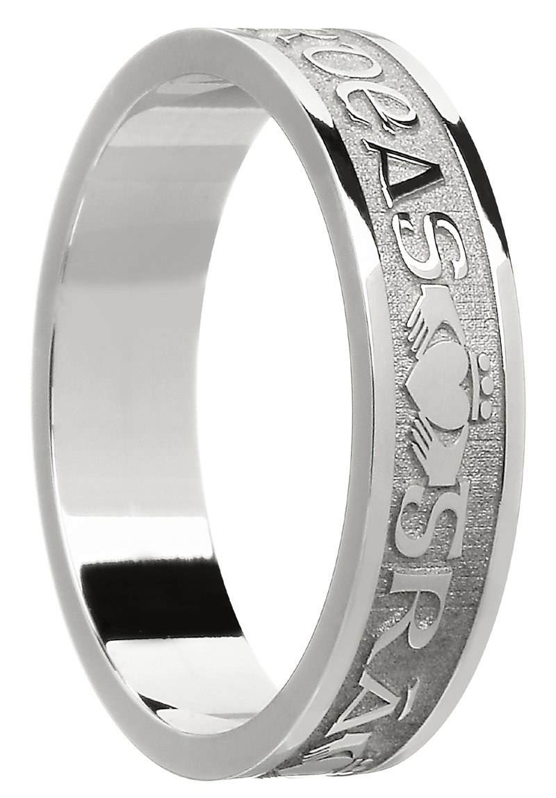 Gra Dilseacht Cairdeas Gold Celtic Wedding Ring