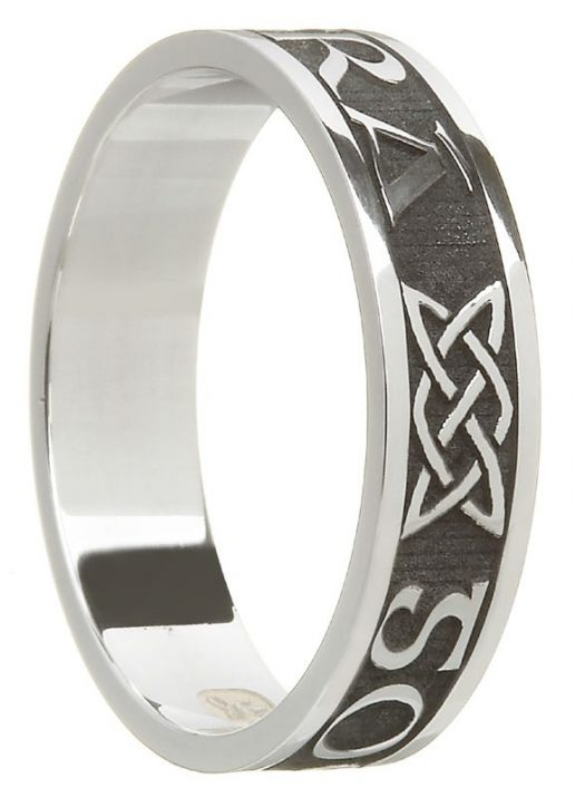 Sterling Silver 'Gra Go Deo' Band
