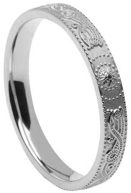 thin celtic wedding ring