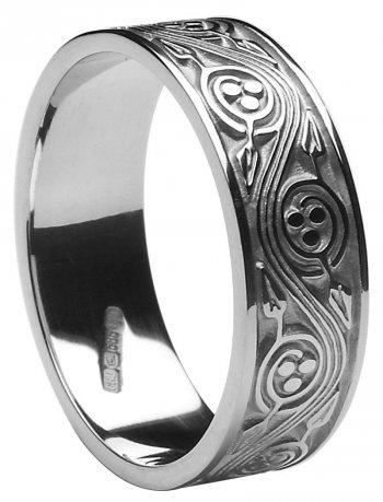 Gold Celtic Triscele Wedding Band