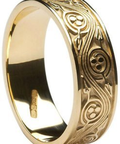 Gold Celtic Triscele Wedding Band