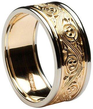 Celtic Triscele Wedding Band with Rims