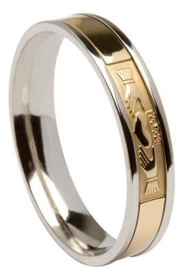 Contemporary Claddagh Wedding Ring