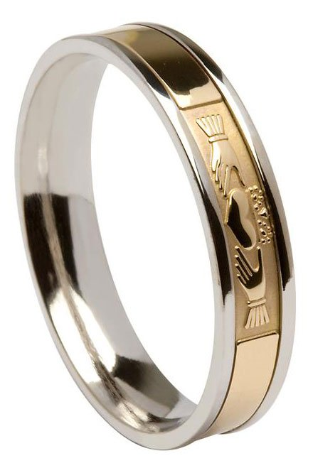 Contemporary Claddagh Wedding Ring