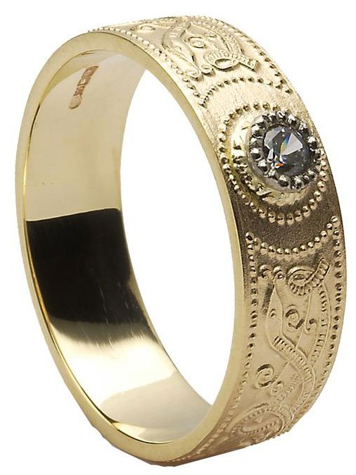 Diamond Celtic Wedding Rings
