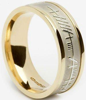 Ogham Celtic Wedding Ring