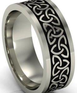 Sterling Silver Oxidized Trinity Knot Ring