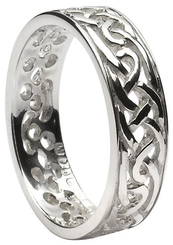 Sterling Silver Celtic Knot Filigree Band